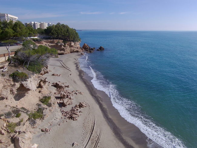 Drone  Miami Platja-Tarragona-Spain Beach Beauty In Nature Day Drone Photography Horizon Over Water Nature No People Outdoors Sand Scenics Sea Sky Tranquil Scene Tranquility Turistic Places Water