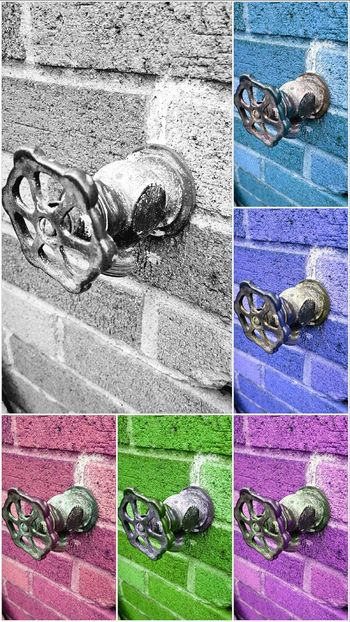 Water Colors... Hanging Out Spout Downspout Water Spouts Brick Wall Brick Hues Colors Watercolor