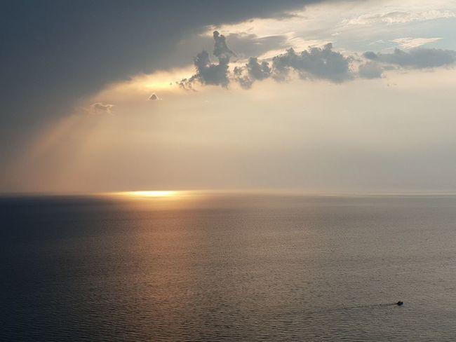 sunset Quiet Tranquility Clouds Temporale Storm Water Sea Sunset Beach Blue Sun Beauty Sunlight Calm