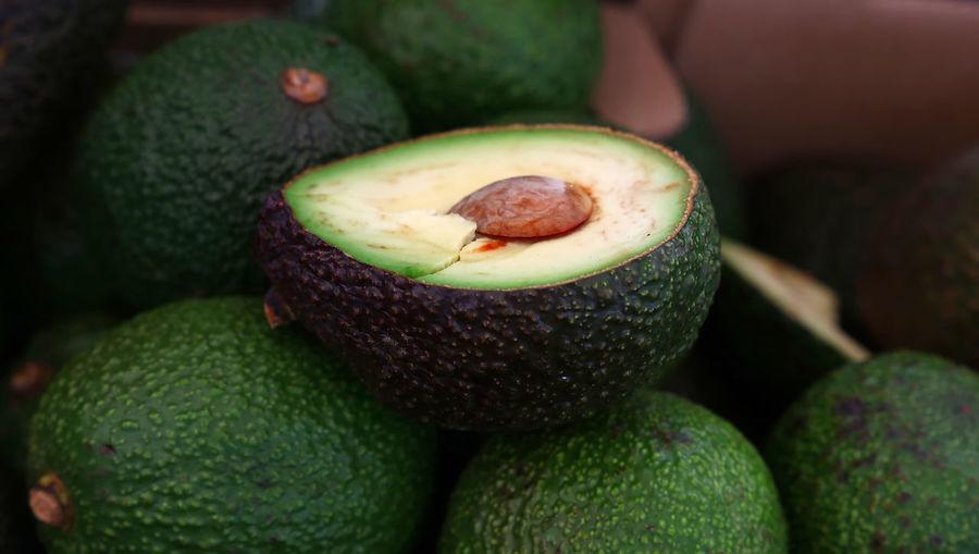 Close-up of avocados