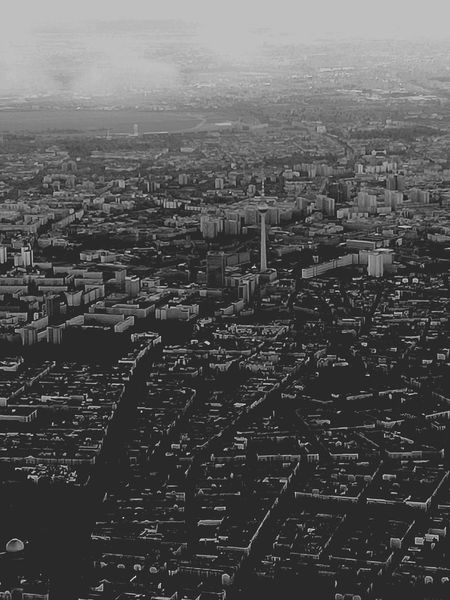 Berlin Cityscape City Aerial View No People Landscape Urban Skyline Sky Black & White Black And White Photography Schwarzweißfotografie View From Above View From An Airplane View Out My Window View From The Window... Aussicht Stadt Stadt Von Oben Airplane
