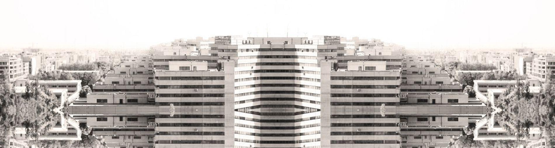 Fake Panorama Building Exterior Cityscape