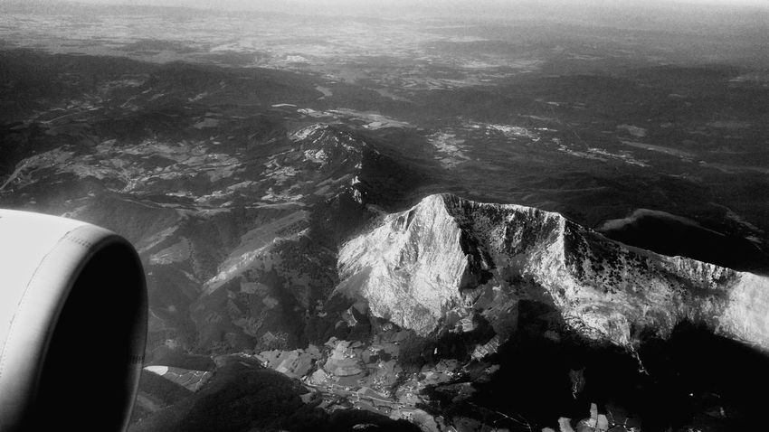 Flying from Menorca to Bilbao, Aerial views. 2015, July 3rd. Menorca Bilbao Flying Landscape Aerial Aerial View Aerial Photography Blackandwhite