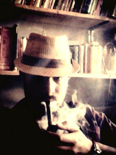 Taking Photos Magic Pipe Smoking Enjoying Life Coffee And Cigarettes Relaxing Myself Portrait