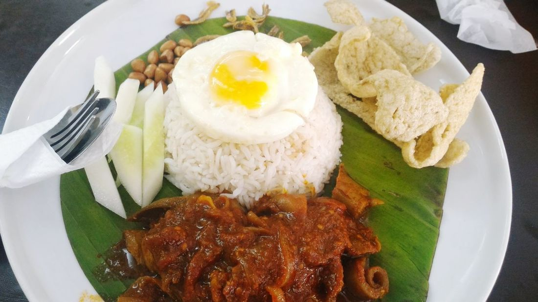 Nasilemak Sambalsotong Fried Egg White Rice Spicy Squid Love Spicy Food Foodporn Lunch Break Ig:meicelina97