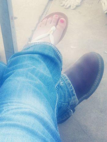 Our cute feet! Too Cute!! Pink!
