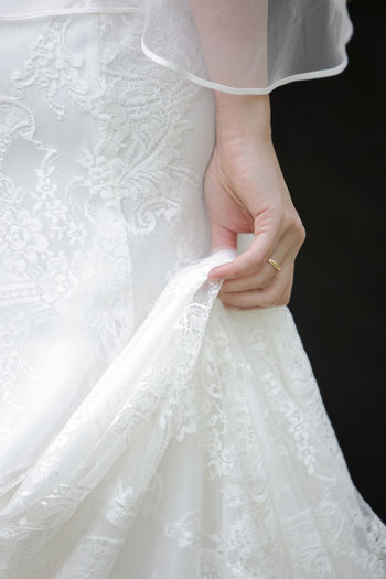 Adult Adults Only Bride Close-up Day Human Body Part Human Hand Human Leg Indoors  Lace - Textile Lifestyles Low Section One Person One Woman Only One Young Woman Only Only Women People Standing Wedding Wedding Ceremony Wedding Dress White Color Young Adult