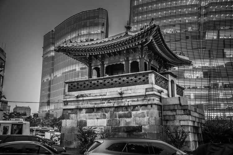 Blackandwhite Black & White Monochrome Korean Traditional Architecture Port Nightphotography Highcontrast