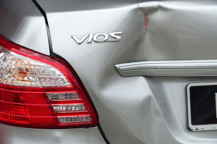 DENTED CAR BONNET Claim Knocked Out Accident Close-up Dented Insurance Mode Of Transportation No People Transportation Vios