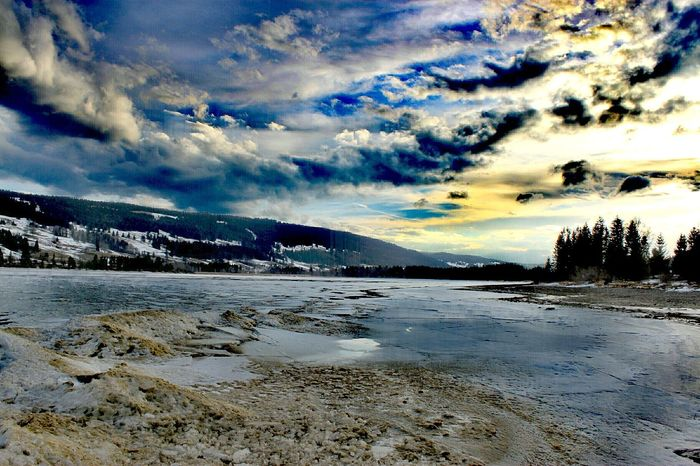 Lake View Lake Sky Nature Water Outdoors Tranquility Ice Snow Winter Nature Collection Beauty In Nature Nature