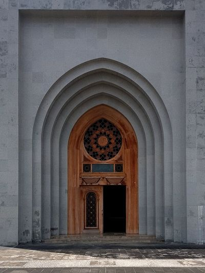 Architecture Gate Door Mosque Mosque Architecture Khaligraphi Natuna Natunaisland Architecture Built Structure