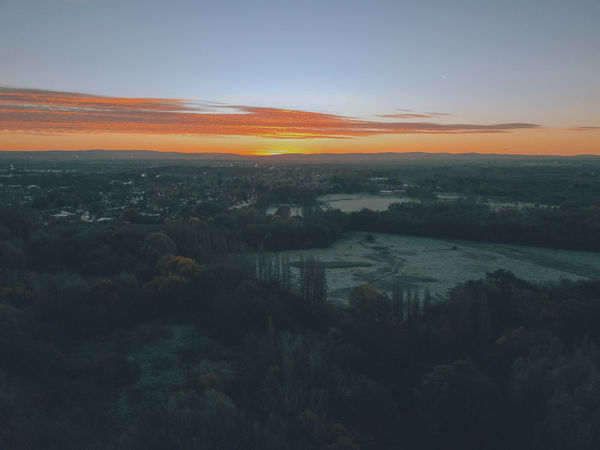 Drone  Drones Sunset Silhouettes Above Shot Of City Against Clouds And Sky Beauty In Nature Day Drone Photography Drone View Dronephotography Droneshot Landscape Nature No People Outdoors Scenics Sky Sunset Tranquil Scene Tranquility Tree