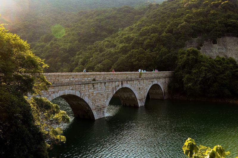 Masonry Bridge Over River At Tai Tam Reservoir