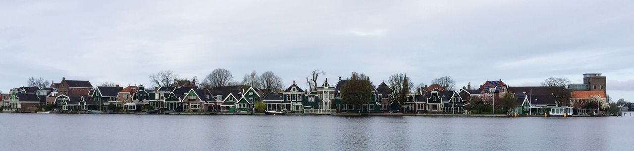 Holiday Memories Cold Days Water And Landscape Panaromic Row Of Houses
