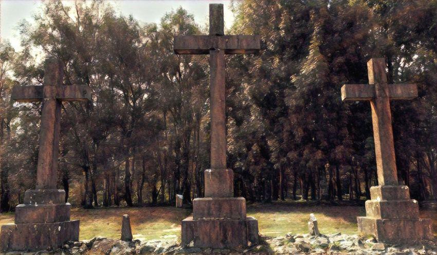 Urkiola Euskalherria Tombstone Cemetery Cross Memorial Grave Sadness Crucifix