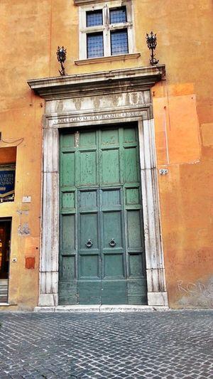 collegio Capranica Door Architectural Detail Roma Monuments