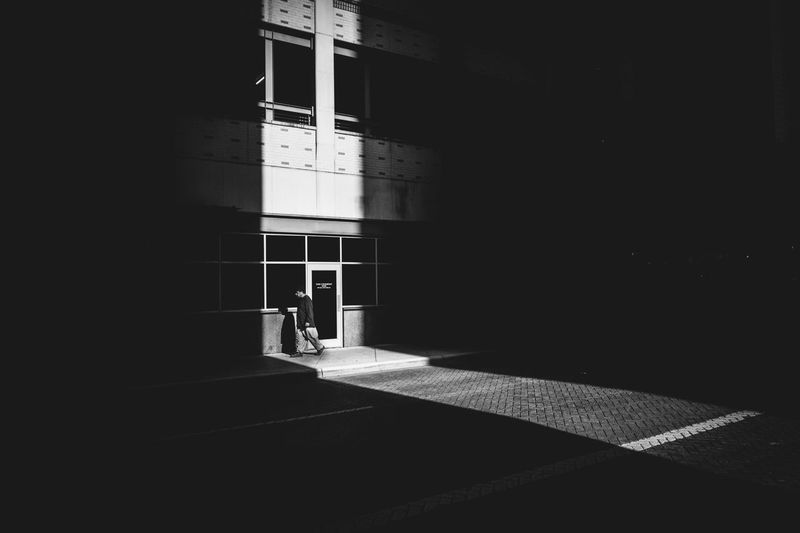 Isolation. || Built Structure Architecture Walking Real People One Person Indoors  Men Building Exterior Day People Streetphotography Street Photography Streetphoto_bw Shadow