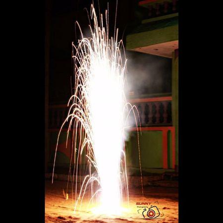 "One frm Deepawali 🎆 Source: Flower Pot Shutter speed: 1""(sec) Crackers Diwali Diwali2015 Canon Sunny_Frames"