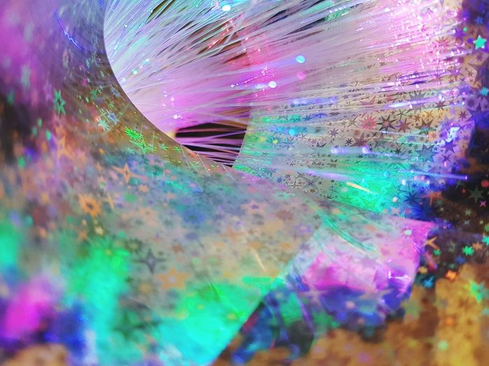 Multi Colored Futuristic Abstract Technology Eyesight People Cyberspace Close-up Outdoors Day Artistic Fiber Optics Hologram Stars Magic The Week On EyeEm
