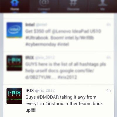 Haha hell yeah @leander_reis @evander_f keep up the tweets and instagram we r goin gud ;) Irix2012 Dmodar