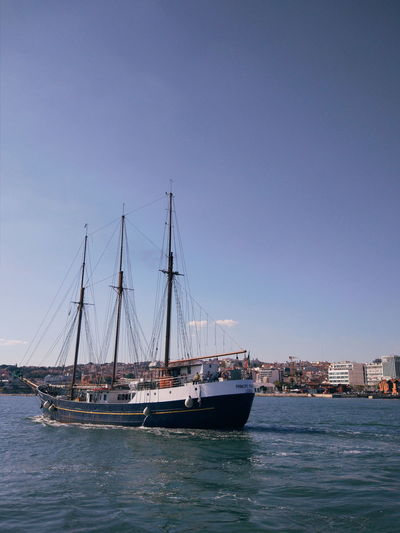 Water Nautical Vessel Sailing Ship Sea Tall Ship Moored Clear Sky Blue Sailboat Sky Sailing Mast Yacht Harbor Wake - Water Flock Of Birds Seagull Dalmatia Region - Croatia Rudder Boat Deck Motorboat Migrating Rigging Boat Captain Regatta Boat Sea Bird Speedboat Recreational Boat Yachting