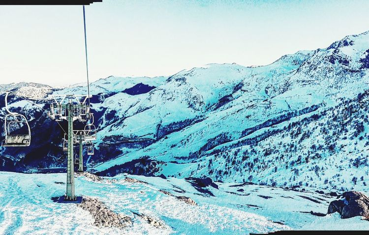 Snow Winter Cold Temperature Mountain Nature Clear Sky Beauty In Nature Day Outdoors Sky Ski Lift Ski Holiday