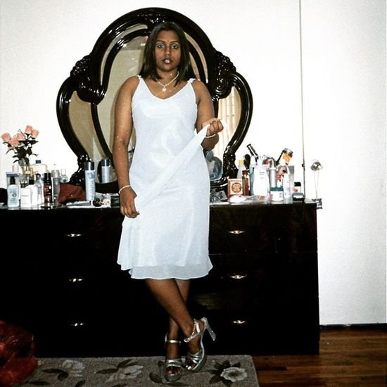 Throwback of the day... 11 years ago when I was still in high school!!! Oldschool TBT  Throwbackthursday  Surpriseparty Mamas70thBirthdayParty June2003 blueandsilver myfavoritecolors actinglikeabugwoman indiangyal Tiffanynecklace Tiffanybracelet opentoedheels manymanymoonsago