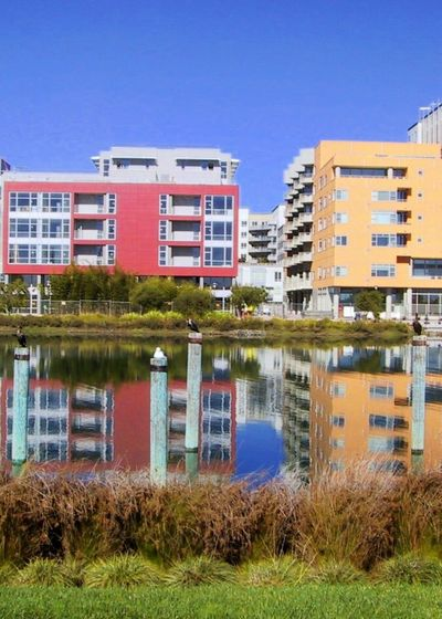 Colorful City Creek Estuary San Francisco San Francisco Bay Mission Creek Mission Bay Water Reflections The Architect - 2015 EyeEm Awards