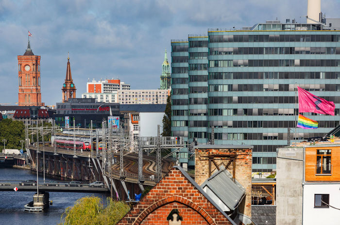 Berlin Berlin Photography City S Bahn Germany Rainbow Flag River Spree River Tower Discover Berlin