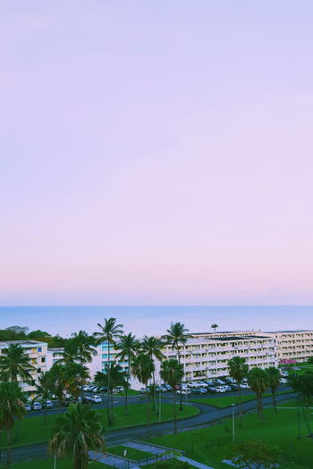 Blue Hour EyeEm Best Shots EyeEm Nature Collection Sunrise_Collection Architecture Bay Beach Beauty In Nature Built Structure Coconut Palm Tree Eyeem Collection Horizon Horizon Over Water Minimalism Palm Tree Purple Scenics - Nature Sea Sky Sunrise Tranquility Tropical Climate Water