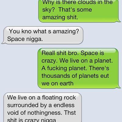 Woke up n saw this lol. Random Kushtexting . @shescreamjay_