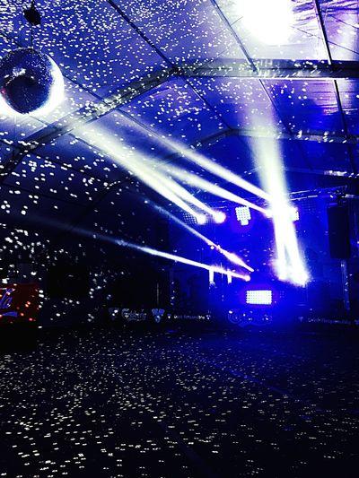 Full frame shot of illuminated stage