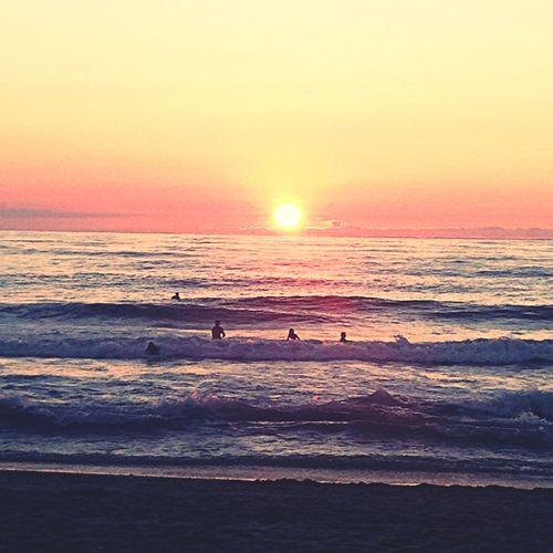 Landscape Sunset Beach Sea And Sky