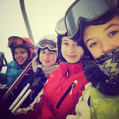 Skilift Mountains With Friends czechgirls Krkonoše tagsforlikes skiing