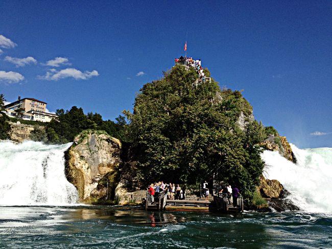 Waterfall Switzerland Shauffausen Beautiful
