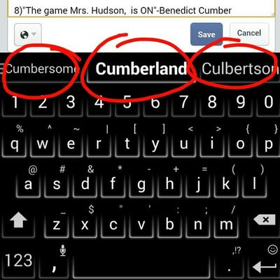 When you try writing Benedict Cumberbatch using autocorrect... Every single time! 😂😂😂 Autocorrect Fails Autocorrectfail Cumberbatch