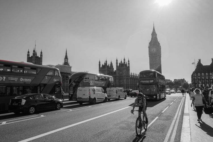 Adult Architecture Bicycle Big Ben Building Exterior Built Structure City Cycling Day EyeEm LOST IN London Land Vehicle Mode Of Transport Outdoors People Road Sky Street Transportation Travel Travel Destinations EyeEmNewHere Your Ticket To Europe Postcode Postcards Black And White Friday Mobility In Mega Cities Stories From The City The Traveler - 2018 EyeEm Awards