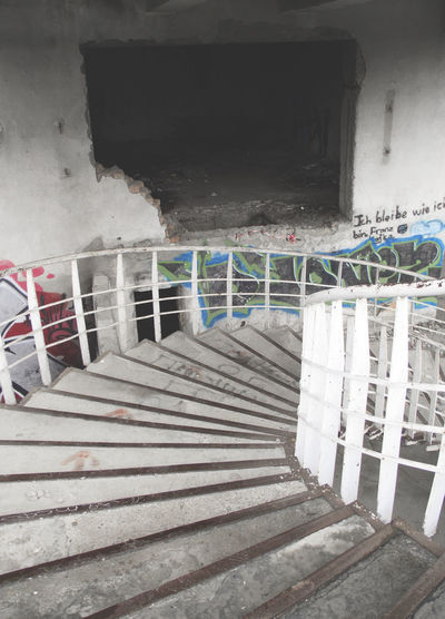 Staircase leading towards building