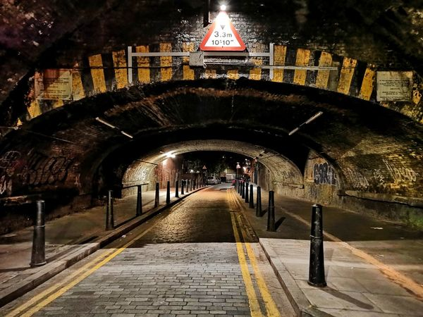 Tunnel City Illuminated Arch Architecture Built Structure Building Exterior Subway Underground Underpass Ceiling Light