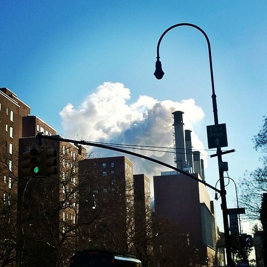 Most impressive smoke plumes (maybe steam) I've seen in a whiillleeee! 8am this morning in the Eastvillage (Jan 23,2014) Iheartny MorningPeopleSeeCoolStuff