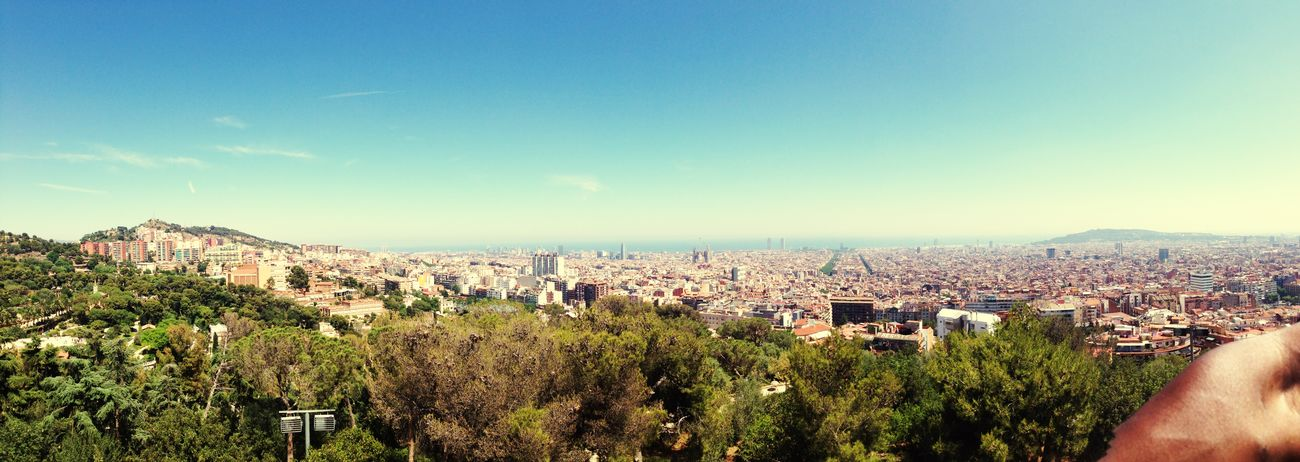 Barcelona Panorama View Beautiful Parkguell Enjoying Life Check This Out Sea And Sky