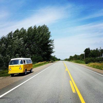 Hit the road with a touch of yellow • Tstcanada with @explorecanada and @destinationnb • Travel Newbrunswick Canada ExploreCanada NBSummer ÉtéNB tstGuitar Roadtrip •
