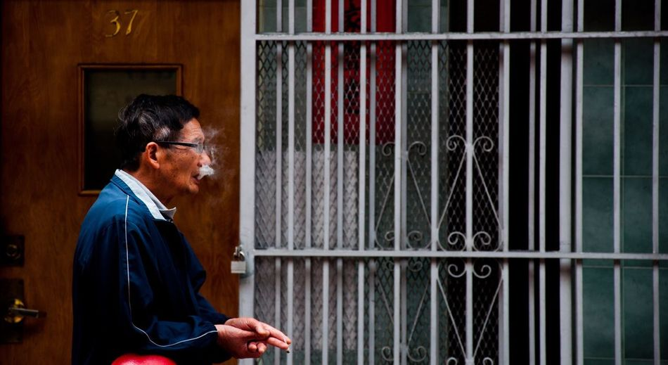 China Town Smoking Cigar Smoke Streetphotography Walking Around Check This Out