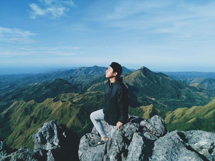 Soul searching   Mt. Napulak💯 Mountain Hiking Adventure Landscape Mountain Range Outdoors Beauty In Nature Portrait Nature One Person One Man Only Eyemphotography EyeEm Nature Lover Nature EyeEmBestPics Eyem Gallery Eyem Travel Destinations EyeEm Best Shots Sky Beauty In Nature Photooftheday Photography Photos Photo