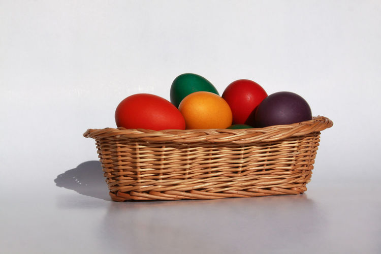 Close-up of multi colored fruits in basket