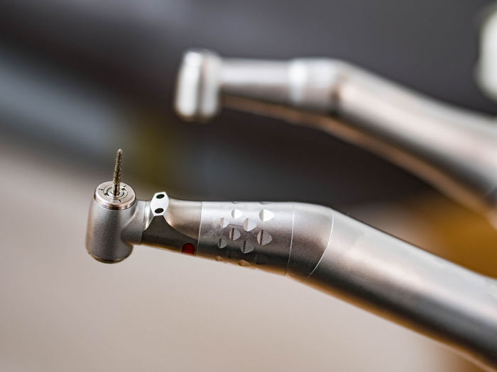 Close-up of dental drills in clinic