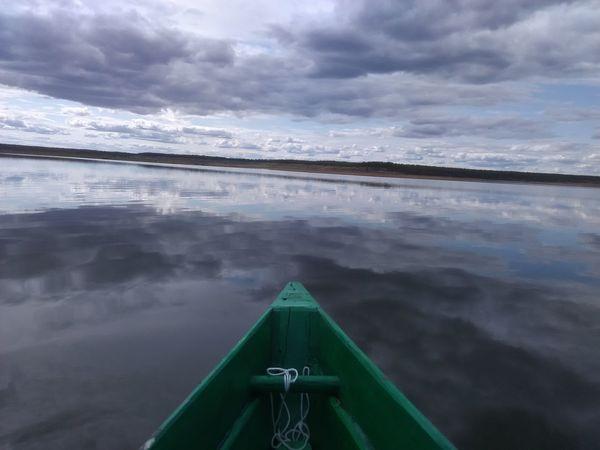 озеро лодка охота и Рыбалка Природа Якутия