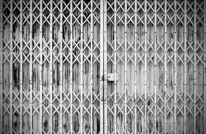 Full frame shot of closed gate