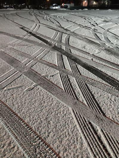 car tracks in