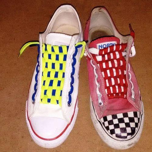 Converse Converseoriginal Lacedanddesigned Checkerboardlacing Checkerboardpattern MyConverse Mydesign Myartwork Northstar Shoelover Shoes Colouredlacing Shoegasm Sneakers Loveit Lovetodesignmyownshoes